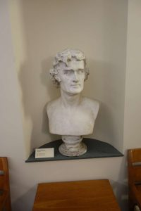 Thomas Jefferson bust, Harrison Institute, UVA