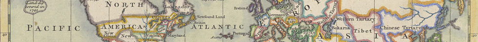 Prinald. A New Map of the World, on Mercators Projection., 1766, University of North Texas Libraries